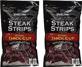 Kirkland Signature Premium Beef Steak Strips Jerky 12 Oz (2PAK)
