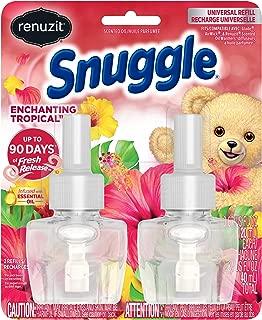 Renuzit Snuggle Scented Oil Refill for Plugin Air Fresheners, Enchanting Tropical, 0.67 Fl Oz (Pack of 2)