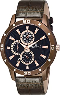 Swisstyle Analog Watch for Men-SS-GR6612-BLK-BLK