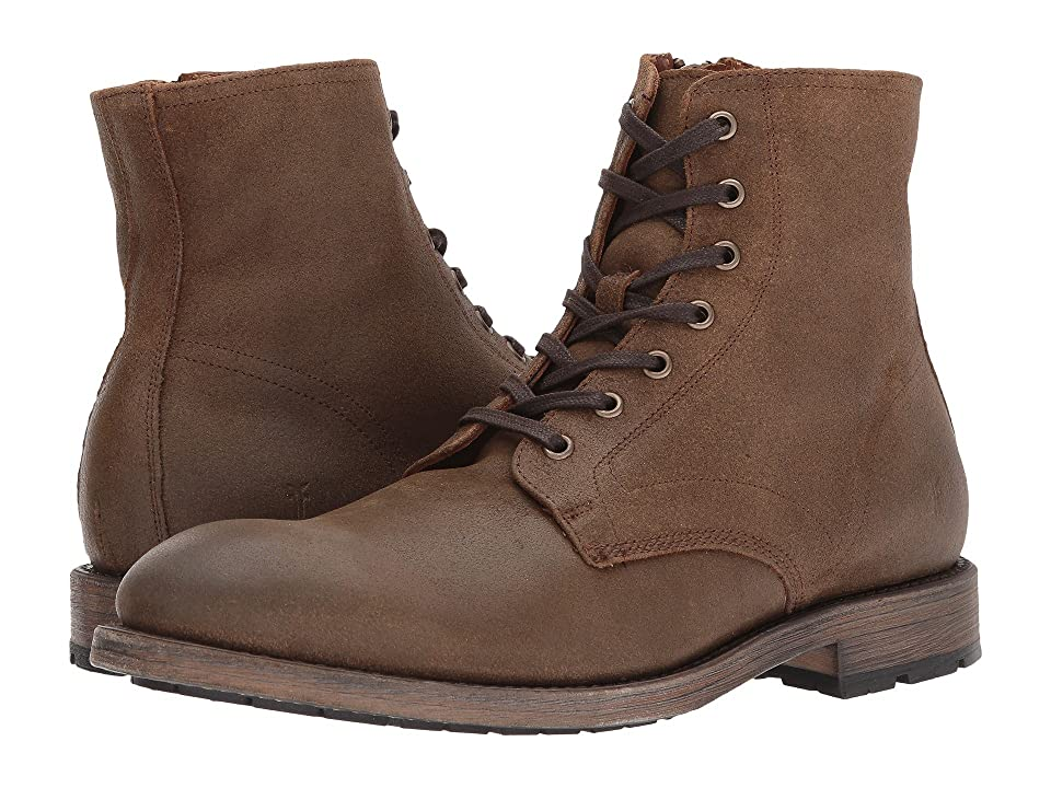 Frye Bowery Lace-Up (Chestnut Waxed Suede) Men