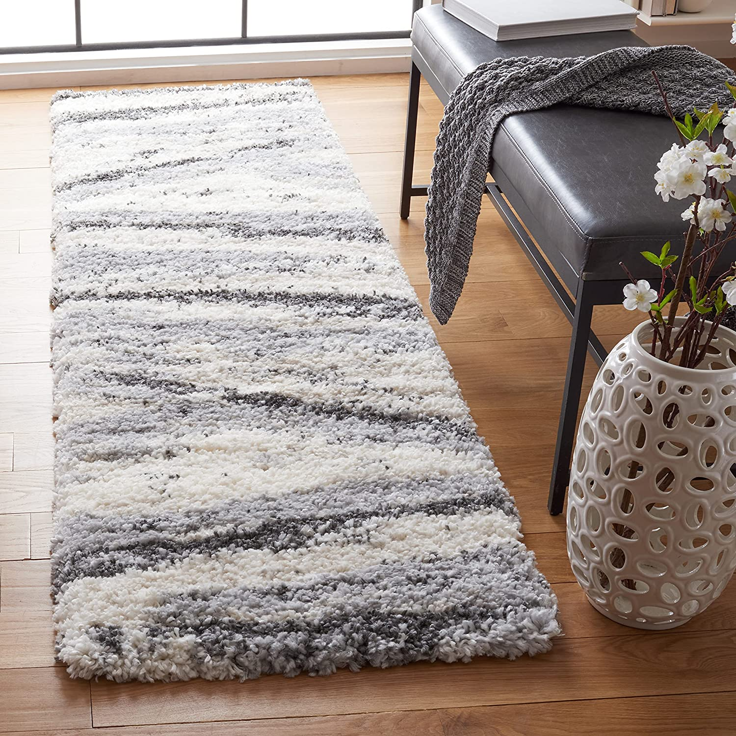 SAFAVIEH Fontana Shag Limited Special Price Collection Abstract Modern FNT840F 2-inch Opening large release sale
