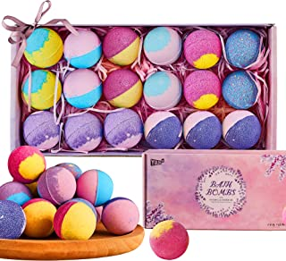 18Pcs Bath Bomb Gift Set with Natural Essential Oils, Perfect for Moisturize Skin & Bubble Bath, Bath Bombs for Women ,Bes...