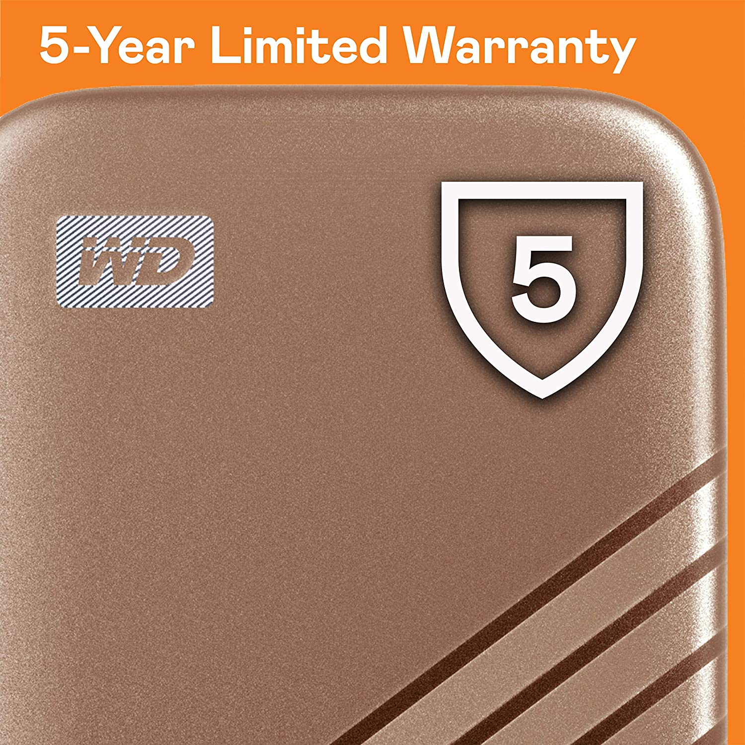 WDBAGF0010BGD-WESN Up to 1,050 MB//s WD 1TB My Passport SSD External Portable Drive Gold