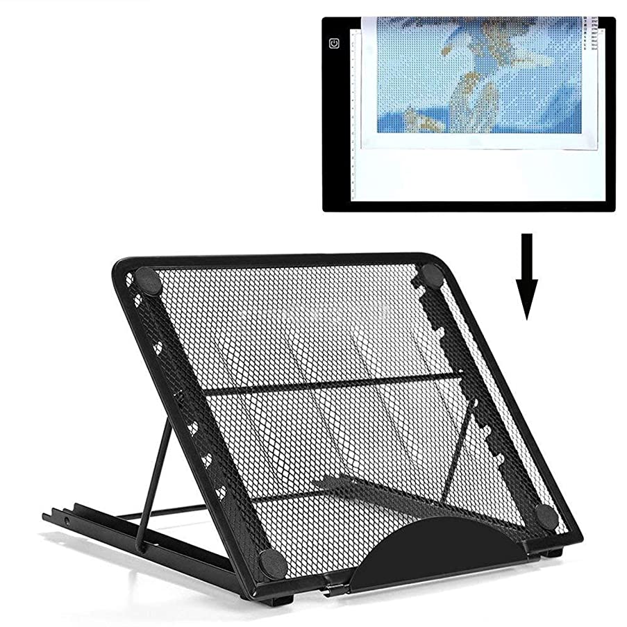 Ventilated Adjustable Light Box Laptop Pad Stand,Multifunction (6 Angle Points) Skidding Prevented Tracing Holder for Tikteck A4 LED Tracing Light Board &Diamond Painting