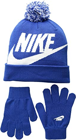 Swoosh Pom Beanie Gloves Set (Little Kids Big Kids) dd39cd0f830c