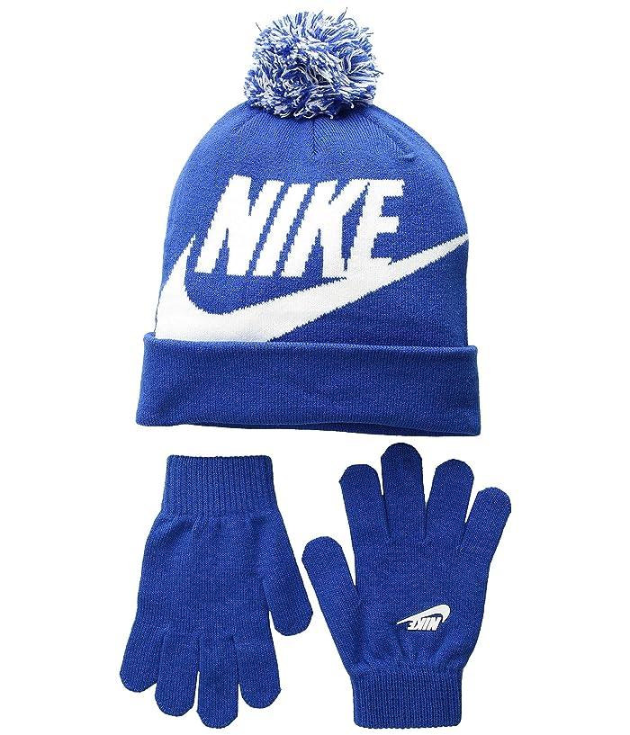 8117b2676 Swoosh Pom Beanie Gloves Set (Little Kids/Big Kids)