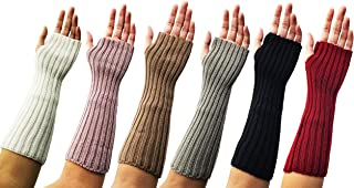Arm Warmers, 3 Pairs for Women, Cable Knit Warm Winter Sleeve Fingerless Gloves, Premium Gift (Assorted B) (Assorted C)