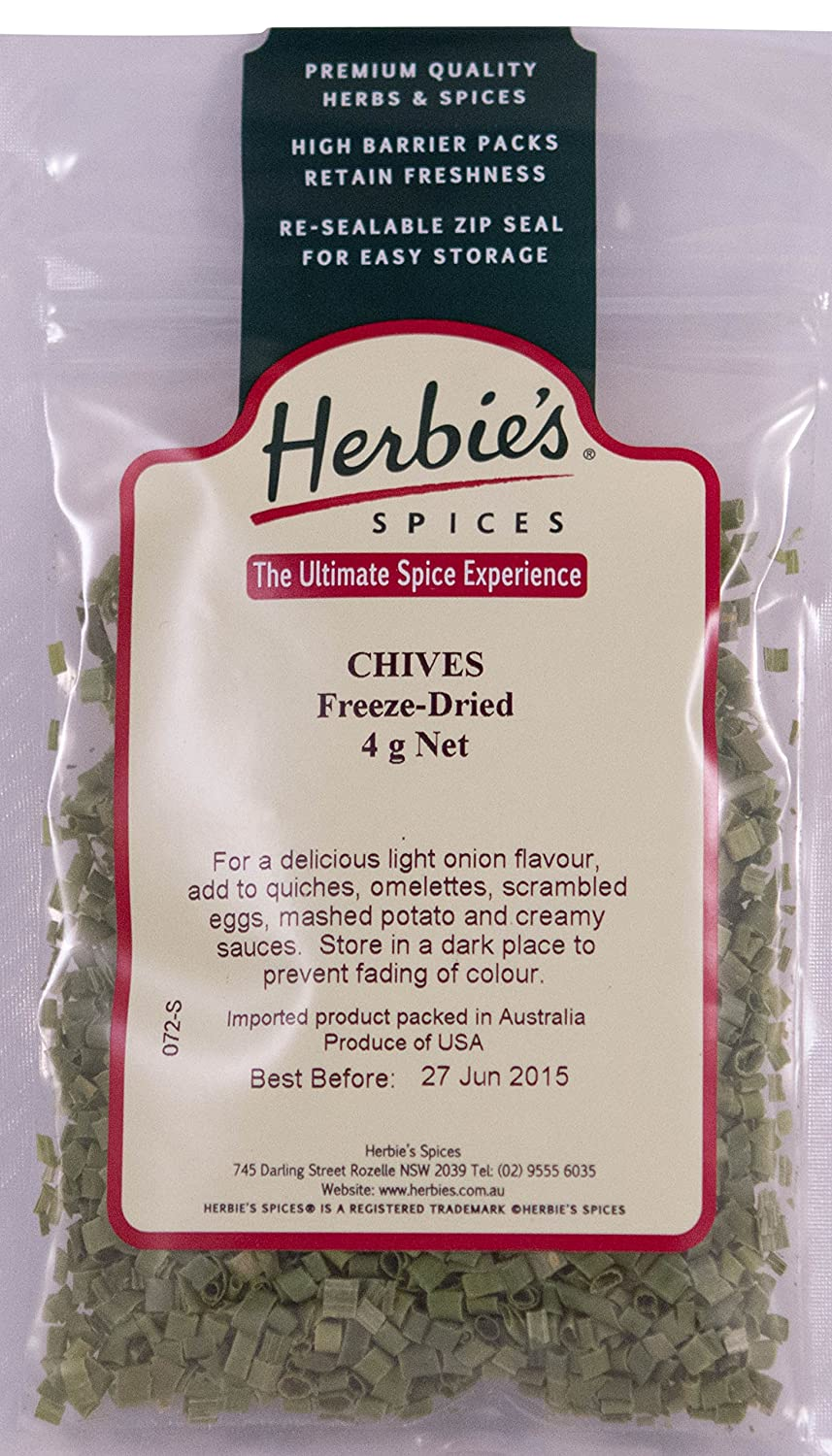 Herbie's It is very popular Spices Chives Freeze-Dried - Ranking TOP8 4g