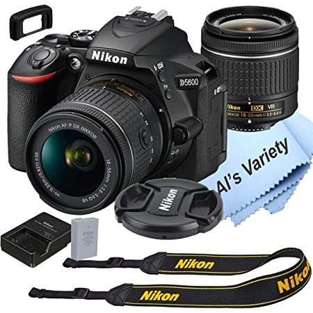 Nikon D5600 DSLR Camera Kit with 18-55mm VR Lens   Built-in Wi-Fi   24.2 MP CMOS Sensor   EXPEED 4 Image Processor and Full HD 1080p Video Recording at 60 fps  SnapBridge Bluetooth Connectivity