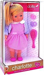 """Dolls World 36Cm (14"""") Soft Bodied Girl Doll  ,1501862108116"""