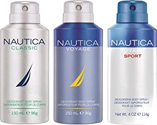 Nautica Deo Combo Set, Classic, Voyage, Voyage Man Sports, 150ml (Pack of 3)