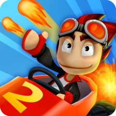 SPECTACULAR KART RACING ACTION UPGRADE YOUR POWERUPS BUILD YOUR TEAM COLLECT OVER 40 CARS PLAY AGAINST THE WORLD CUSTOMIZE YOUR RIDE AWESOME NEW GAME MODES