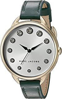 Marc by Marc Jacobs MJ1477 Contrast Dial Round Leather Analog Watch for Women - Dark Green