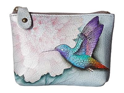 Anuschka Handbags Coin Pouch 1031 (Rainbow Birds) Handbags