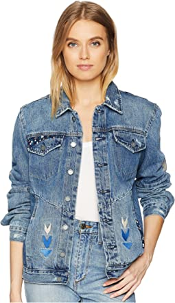 Embroidered Denim Jacket in Pub Crawl