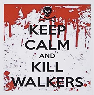 3dRose Set of 12 Greeting Cards, Keep Calm and Kill Walkers (gc_178690_2)