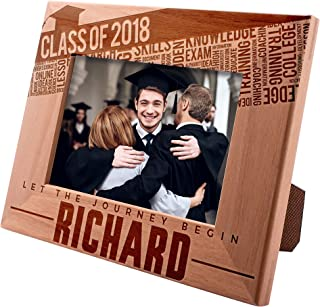 Class of 2019 Personalized Picture Frames for Graduation Gifts - Let The Journey Begin - Class of 2019 - Gift for High School or College Graduate Gift