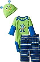GERBER Baby Boys' 3-Piece Bodysuit, Pant and Cap Set