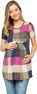 Women's Maternity Front Pleat Short Sleeve Casual...