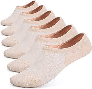 Leotruny Women's 6 Pairs Bamboo Mesh Design Low Cut Non Slip No Show Socks
