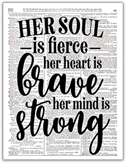 Her Soul is Fierce, Her Heart is Brave, Her Mind is Strong, Girl Power Art, Dictionary Page Photo Art, 8x10, Unframed