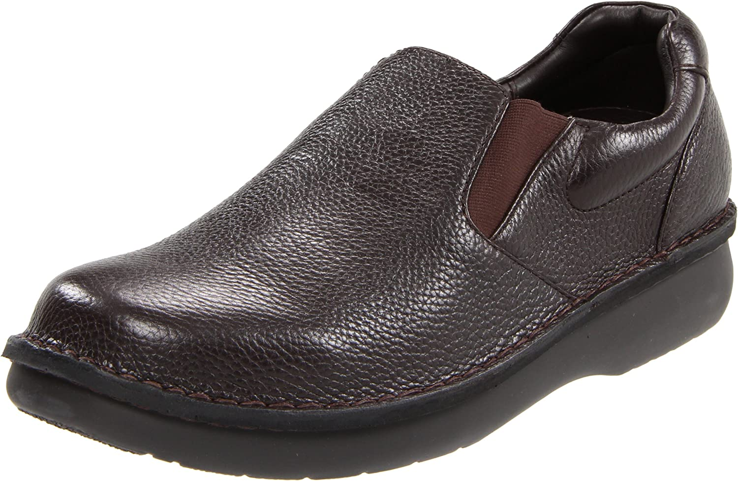 Propet Men's Galway Walker Slip-on,Dark Brown Grain,10 XX (US Men's 10 Eeeee)