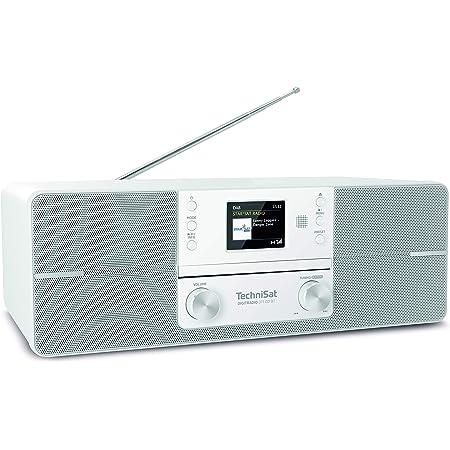 Technisat Digitradio 225 Dab Radio Portables Dab Ukw Radio Mit Metall Tragegriff Und Integriertem Akku Sleeptimer Wecker Kopfhöreranschluss Bluetooth Nfc Weiß Heimkino Tv Video