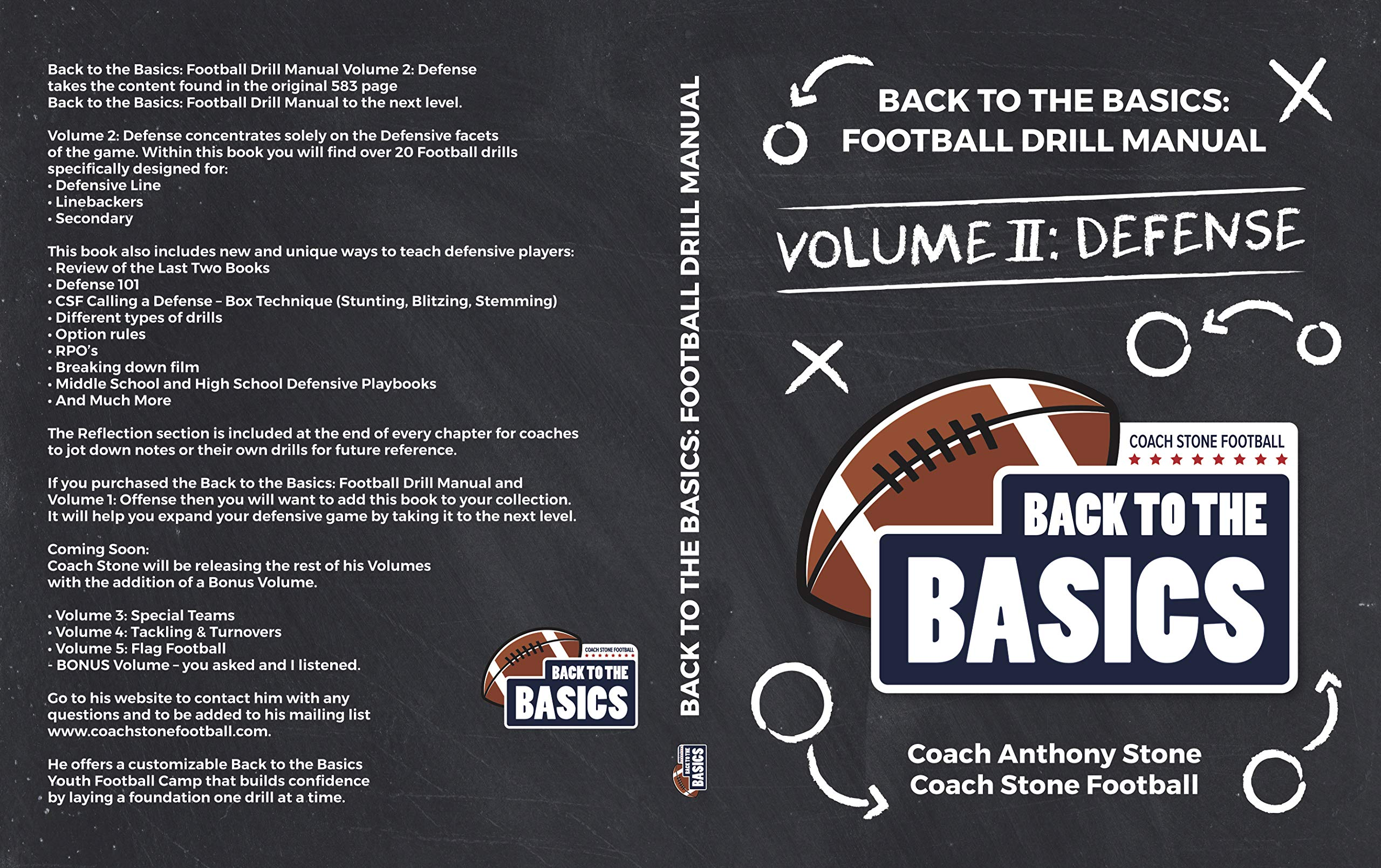 Image OfBack To The Basics: Football Drill Manual Volume 2: Defense (English Edition)