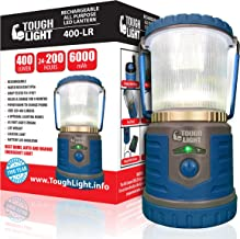 Tough Light LED Rechargeable Lantern - 200 Hours of Light from a Single Charge, Longest Lasting on Amazon! Camping and Emergency Light with Cell Phone Charger - 2 Year Warranty