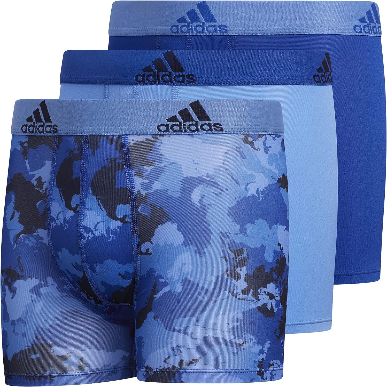 adidas Boy's Performance Boxer Briefs Underwear (3-Pack)