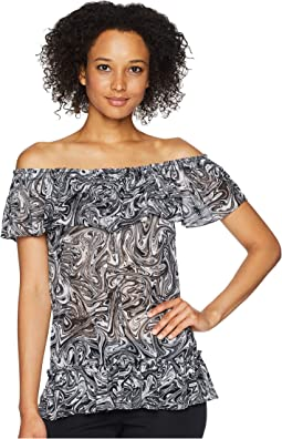 Swirl Off Shoulder Gather Top