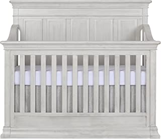 Evolur Napoli 5-in 1 Convertible Crib, Antique Grey