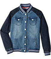 Tommy Hilfiger Kids - Denim Baseball Jacket (Big Kids)