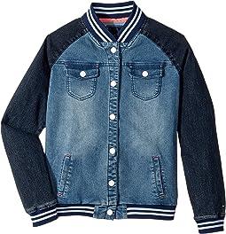 Tommy Hilfiger Kids - Denim Baseball Jacket (Big Kids)