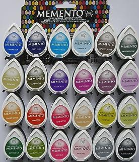 Tsukineko MEMENTO dew drop INK PADS BARGAIN OFFER Set of 24 different colours plus Larissa Exclusive Sparkly Gems