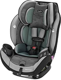 Evenflo EveryStage DLX All-in-One Car Seat, Infant Convertible & Booster Seat, Grows with Child Up to 120 lbs, Angled for Comfort and Safety, 3-Times-Tighter Installation, Highlands Green