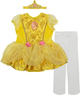 Disney Princess Belle Baby Girls` Costume Tutu Dress, Headband and Tights