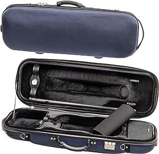 MI&VI Foamed Hard, Sturdy, Durable 4/4 Violin Case w/Hygrometer, Carry Straps, Oblong, Interior, Violin strings container...