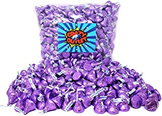 CrazyOutlet Pack - Hershey's Kisses Purple Foils Milk Chocolate Candy, Mothers Day Candy, 2 lbs