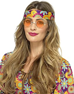Smiffy's 43060 Gafas hippies, naranja