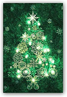 Easy Quilt Kit - Stonehenge Evergreen Christmas Tree Starry Night Complete Wall Hanging Kit with Lights - Free Priority Shipping!