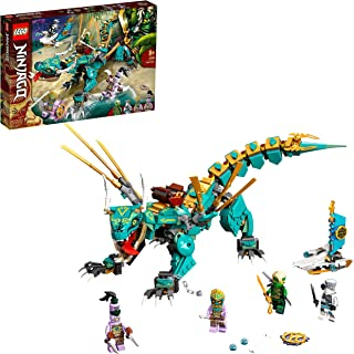 LEGO 71746 NINJAGO Jungle Draak Bouwset met Ninja Lloyd en Zane Poppetjes, Speelgoed voor Kinderen vanaf 8 jaar