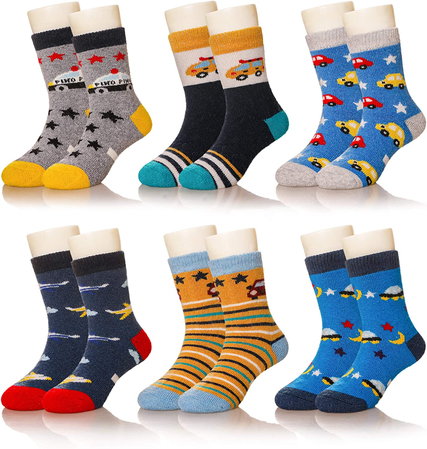 Kids Girls Boys Winter Wool Socks Super Warm Soft Thick Childrens Cute Animal Thermal Toddler Thermal Crew Casual Socks
