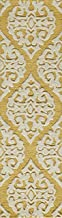"""Momeni Rugs DUNESDUN-5GLD2380 Dunes Collection, Hand Tufted 100% Wool Transitional Area Rug, 2'3"""" x 8'3"""" Runner, Gold"""
