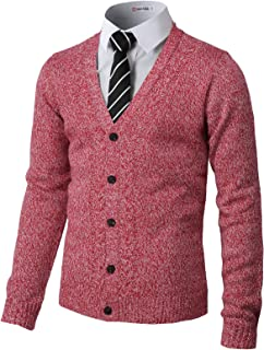 Mens Casual Slim Fit Cardigan Long Sleeve Cable Knitted Cardigan Sweater Jacket