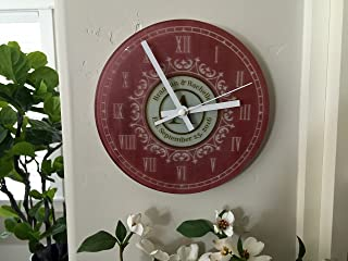 Personalized Clocks for Kitchen - A Unique Anniversary Clock and Wedding-Gifts for Couple (Without Stand, Brandon & Rachelle Design)