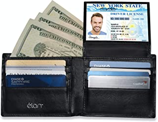RFID WALLETS FOR MEN - Credit Card Protector Against Electronic Theft - Genuine Leather Wallet with the Latest RFID Blocking Technology (Silver Logo)