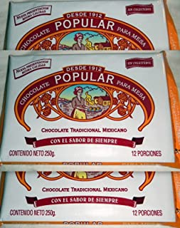 3 X Chocolate Popular Tradicional Mexicano Makes 12 Cups 250g Product From Mexico