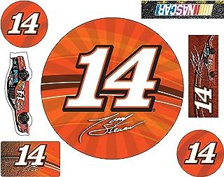 NASCAR #14 TONY STEWART 7 PC DECAL SET-TONY STEWART 7 PIECE STICKER SET NEWEST STYLE