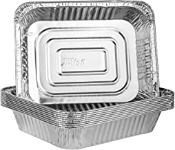 Plasticpro Disposable 9 x 13 Aluminum Foil Pans Half Size Deep Steam Table Bakeware - Cookware Perfect for Baking Cakes, B...